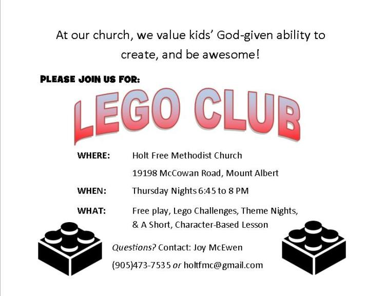 Lego Club invitation